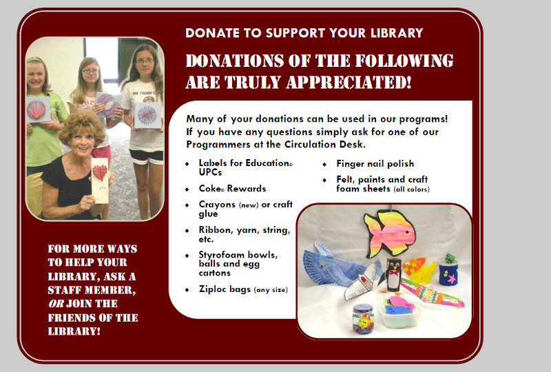 Donate To Support Your Library